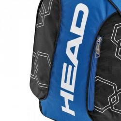 Hátizsák Head Elite Backpack fekete-kék Tenisz squash táska Head