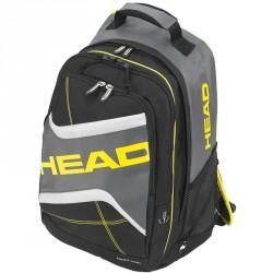 Hátizsák Head Elite Backpack fekete-sárga Sportszer Head