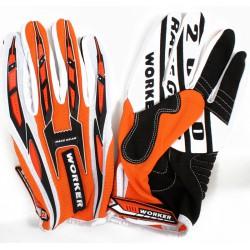 Motokcross kesztyű WORKER MT 790 Narancs - XL Sportszer