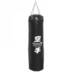Bokszzsák 140x40 cm fekete Sportszer Kensho