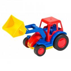 Basic traktor markolóval WADER Munkagép játékok Wader