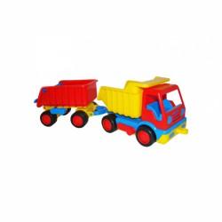 Basic traktor utánfutóval WADER Munkagép játékok Wader