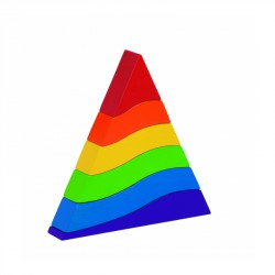 Piramis montesszori GOKI Szórakoztató játékok Goki