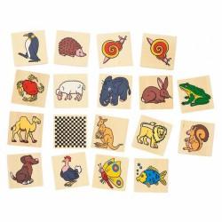 Vadállat memória I. - GOKI Memória játékok Goki