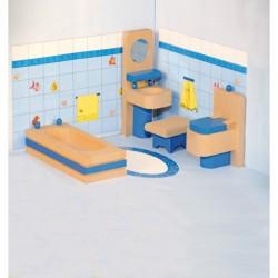 Fa bababútor - fürdőszoba WOODY Babaház Woody
