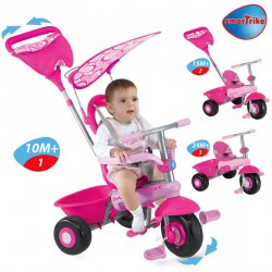 Tricikli Smart Baby 3 in 1 pink Játék Smart