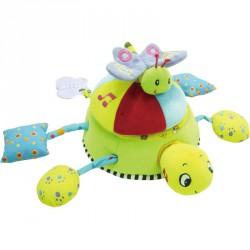 Kacagó teknős Textil bébi játékok Biba Toys