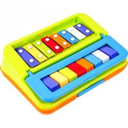 Xilofon és zongora 2in1 játék Ütős zenélő játékok 4M