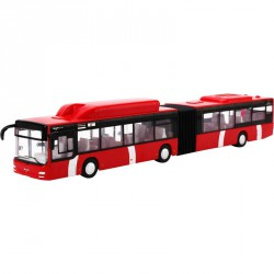Busz 1:43 MAN piros Fém autók 4M