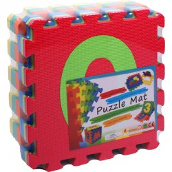 Habszivacs 9 darabos szőnyeg puzzle számokkal Textil bébi játékok