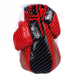 Piros-fekete boksz-szett 43 cm Sportszer 4M