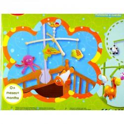Textil bébijáték - ágyra szerelhető zenélő mobil Textil bébi játékok Biba Toys