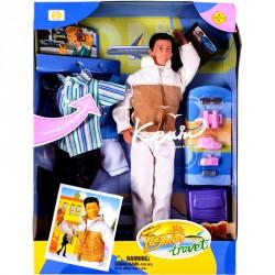 Defa fiú baba úti kiegészítőkkel Babák