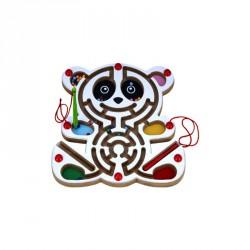 Fa labirintus 30x30x2,2 cm, maci Készségfejlesztő játék