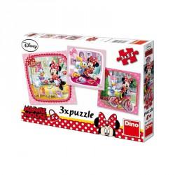 Puzzle 3x55 db - Minnie Puzzle Dino
