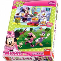 Puzzle 2x66 db - Minnie Puzzle Dino