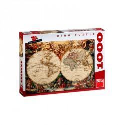 Puzzle 1000 db - Történelmi térkép Puzzle Dino
