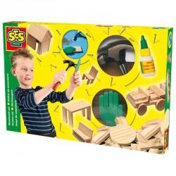 Barkács szett fából Barkács játékok SES Creative