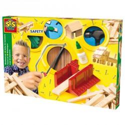 Barkács szett fából, nagy Barkács játékok SES Creative