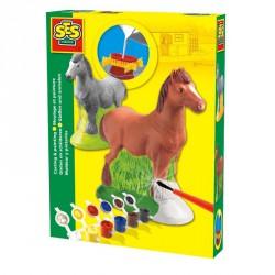 Gipszkiöntő játék - 3D  lovacska Színező SES Creative