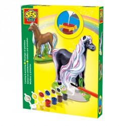 Gipszkiöntő játék 3D lovacska Színező SES Creative
