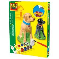 Gipszkiöntő játék - 3D  labrador kutyus Színező SES Creative