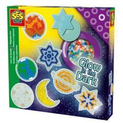 Vasalható gyöngy - 1000 db sötétben világító Kreatív készletek SES Creative