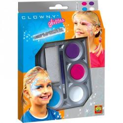 Clowny - arcfestő 4 színű Smink készletek SES Creative