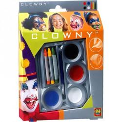 Clowny - arcfestő 3 ceruza és 4 korong Smink készletek SES Creative