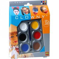 Clowny - arcfestő 6 színű Smink készletek