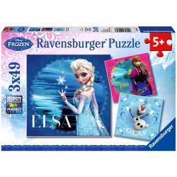 Puzzle 3x49 db - Jégvarázs Ravensburger Puzzle Ravensburger