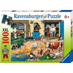Puzzle 100XXL - Baromfiudvar Ravensburger Puzzle Ravensburger