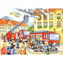 Puzzle 100XXL - Tűzoltók Ravensburger Puzzle Ravensburger