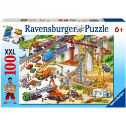 Puzzle 100XXL - Építkezés Ravensburger Puzzle Ravensburger