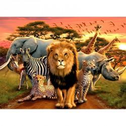 Puzzle 500 db - Afrikai állatok Ravensburger Puzzle Ravensburger