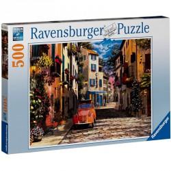 Puzzle 500 db - Dél-francia kisváros Ravensburger Puzzle Ravensburger