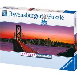 Puzzle 1000 db panoráma - Golden gate Ravensburger Puzzle Ravensburger