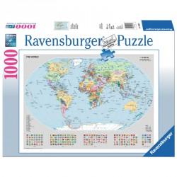 Puzzle 1000 db - Világtérkép Ravensburger Puzzle Ravensburger