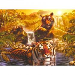 Puzzle 2000 db - Tigrisek Ravensburger Puzzle Ravensburger