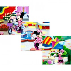 Puzzle 3in1  memóriajáték - Minnie Szórakoztató játékok