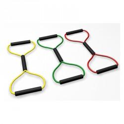 Body-Toner nyolcas alakú gumikötél gyeng e (sárga) Sportszer R-Med