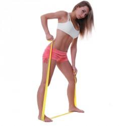 Fit-Band erősítő gumiszalag gyenge sárga 150 cm Sportszer