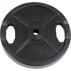 Gumírozott súlyzótárcsa 15 kg Sportszer