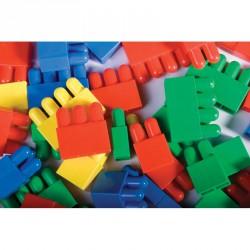Lapos építőelem készlet Fejlesztő játékok Amaya