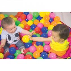 Medencébe való színes labdák 75 mm-es Játéklabda Amaya