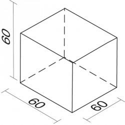 Lakkozott szivacs kocka 60 cm Sportszer Amaya