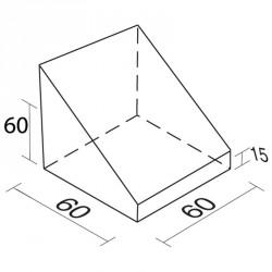 Lakkozott szivacs hiányos háromszög 60 cm Sportszer Amaya
