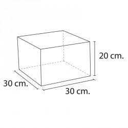 Lakkozott szivacs téglalap 30x30x20 cm Sportszer Amaya