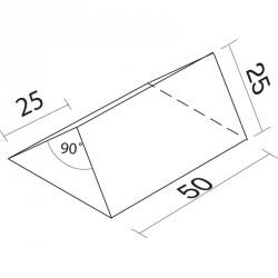 Lakkozott műbőr szivacs tető 25x25x50 cm Sportszer Amaya