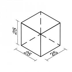 Lakkozott műbőr szivacs kocka 25 cm Sportszer Amaya